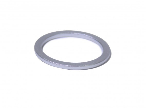 "Distanzring Alu 1 1/8"" x 2mm, Alu Slber"