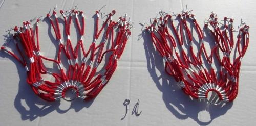 Kleidernetz Rockschutz Gummi, rot, 26-28