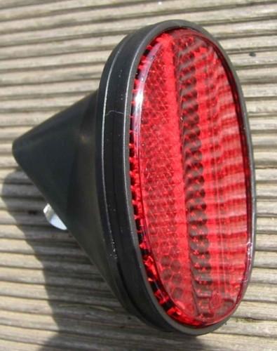 Reflektor oval, schwarz