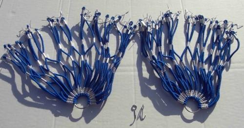 Kleidernetz Rockschutz Gummi, blau, 26-28