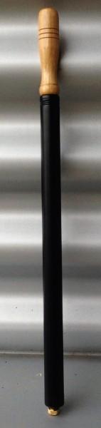 Luftpumpe, Metall schwarz, Schrägventil 45,5 cm