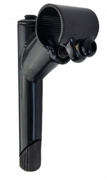 Vorbau, 60mm, Stahl-Schaft 1-Fach Schraubenlenkerklemmung Schwarz Humpert Ergotec
