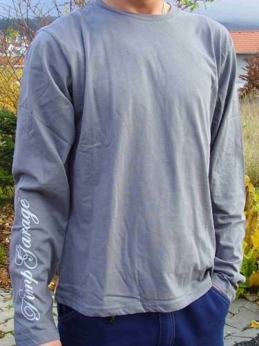 T-Shirt grau mit langen Ärmeln
