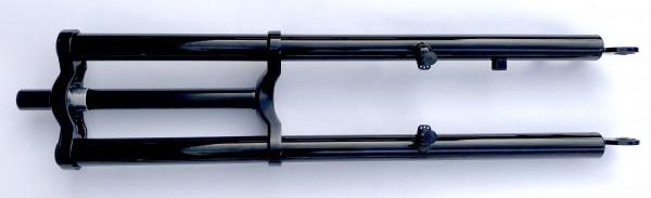 Doppelbrückengabel, schwarz 630 mm, edel für 26 Zoll-Reifen mit Cantilever Aufnahmen