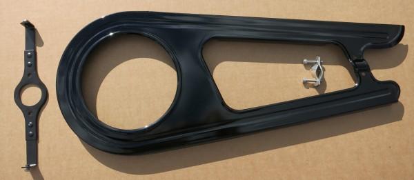 Kettenschutz 2 -flügelig Classic Stahl schwarz für 26/28 Zoll 46 Zähne