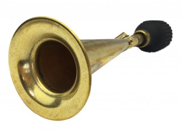 Konisches, langes Horn Ballhupe aus Messing, mit Flaschen-Hupenbalg