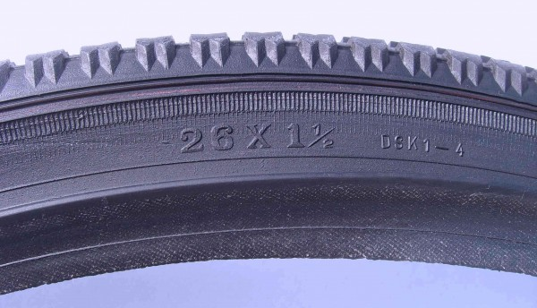 Wulstreifen 26 x 1 1/2 Deestone schwarz