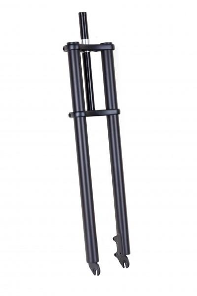 Doppelbrückengabel, mattschwarz 690 mm, edel für 20-28 Zoll-Reifen