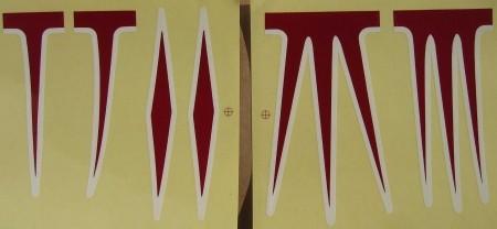 Aufklebersatz für Cruiser Rahmen, rot-weiß