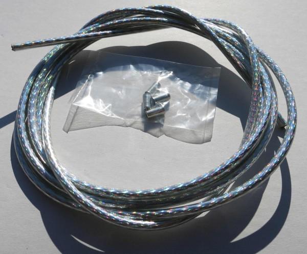 Außenzug Bowdenzug silber / regenbogen glänzend 2,50 m 5 mm