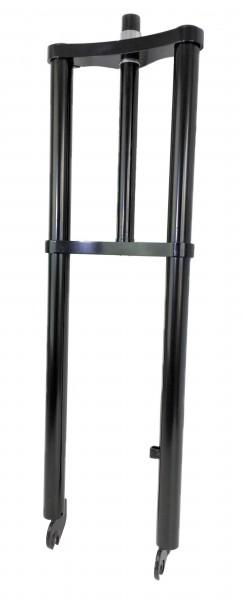 Extra breite Doppelbrückengabel, 660 mm, schwarz für 26 Zoll-Reifen