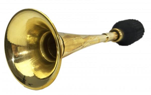 Gerade, langes Horn Ballhupe aus Messing, mit Flaschen-Hupenbalg