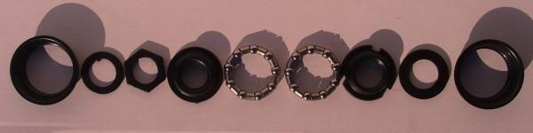 Innenlager - BMX für one piece Crank schwarz