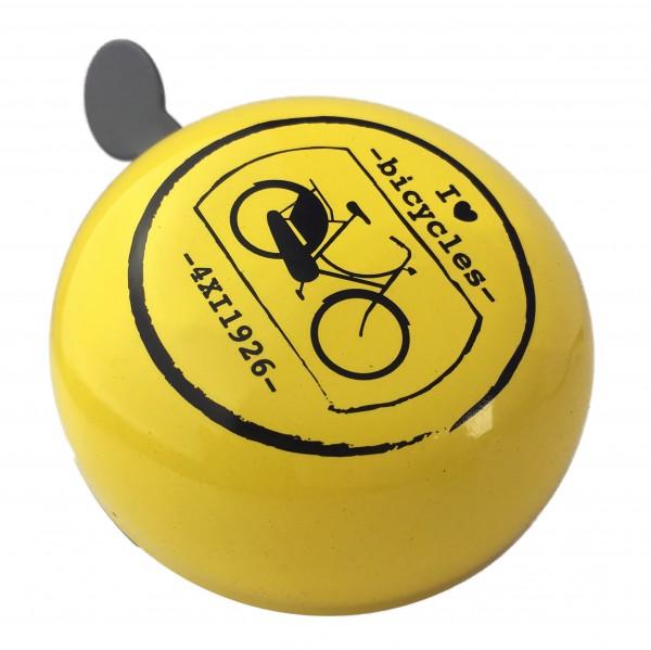 Ding Dong Glocke Fahrrad gelb 80mm