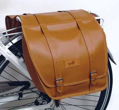 Gepäckträgertasche Vintage braun Satteltasche