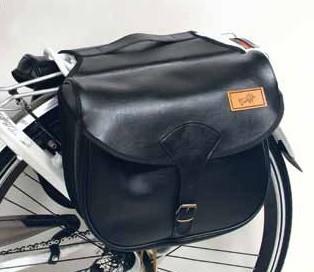 Gepäckträgertasche Kunstleder schwarz