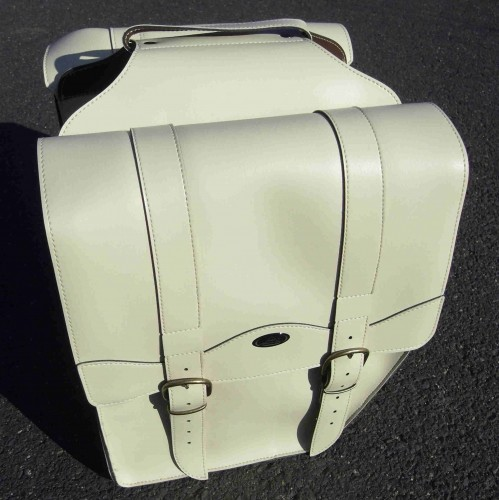 Gepäckträgertasche Vintage creme