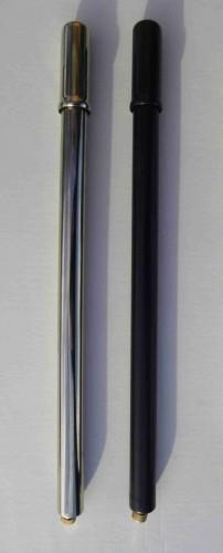 Luftpumpe, Metall schwarz, Schrägventil 40 cm