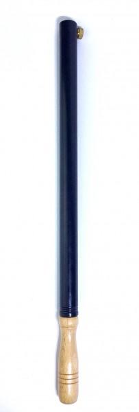 Luftpumpe, Metall schwarz, Holzgriff 45 cm