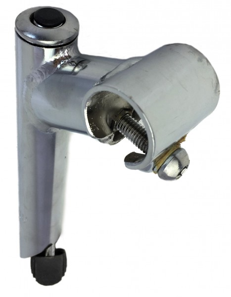 Vorbau, 25,4 - 25,4 60 mm, Stahl-Schaft 1-Fach Schraubenlenkerklemmung verchromt Ergotec