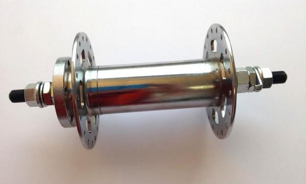 Extra breite Vorderradnabe für Scheibenbremse verchromter Stahl