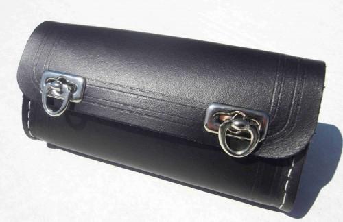 ECHTLEDER Werkzeugsatteltasche schwarz