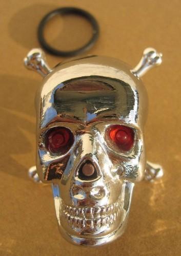 Skull Totenkopf Rücklicht / Warnleuchte
