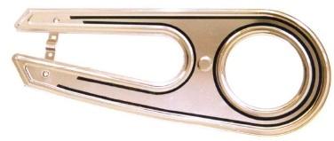 Kettenschutz 2-flügelig Classic Alu poliert