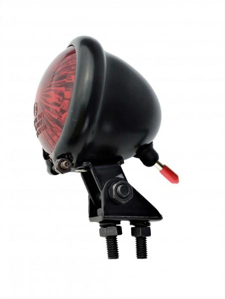 Bates Rücklicht LED rot, Retro Moped Style, Batterie schwarz