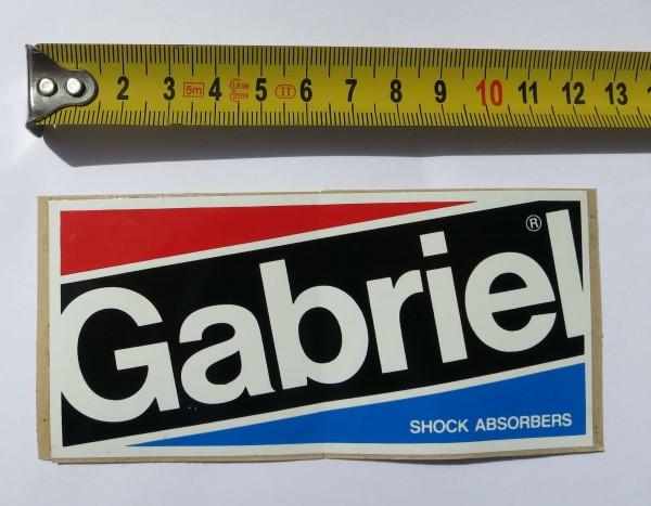 Original Aufkleber Gabriel aus den frühen 70er Jahren