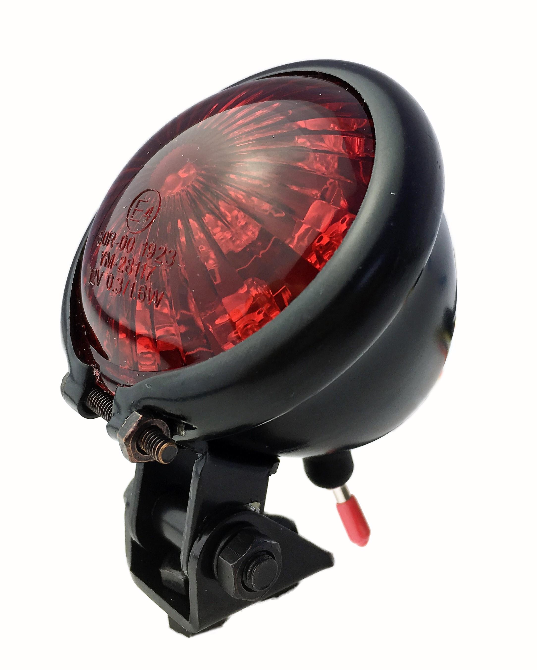 Classic Cycle Rückleuchte Retro LED rot Batterie