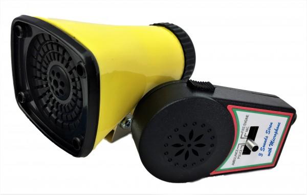 Kojak Batterie-Sirene, mit Micro, drei verschiedene Sirenen
